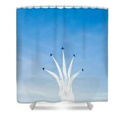 Blue Angel Signature Break-away Shower Curtain