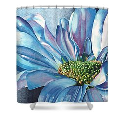 Shower Curtain featuring the painting Blue by Angela Armano