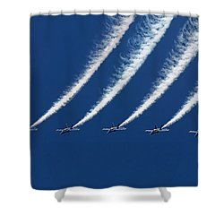 Blue Angels Formation Shower Curtain