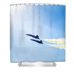 Blue Angels Into The Sun Shower Curtain