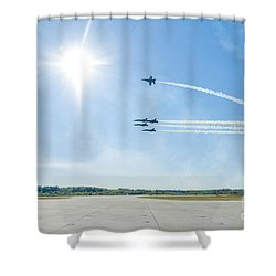 Blue Angels Low Pass Shower Curtain