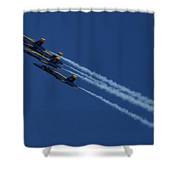 Blue Angels Over San Francisco Bay Shower Curtain