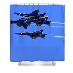 Blue Angels Perform Over San Francisco Bay Shower Curtain