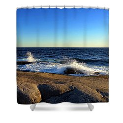 Blue Atlantic Shower Curtain by Heather Vopni