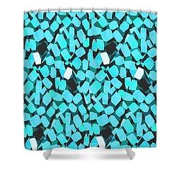 Blue Avalanche Shower Curtain by Steamy Raimon