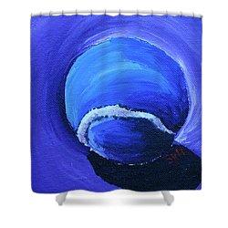 Blue Ball Shower Curtain