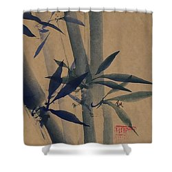 Blue Bamboo Shower Curtain