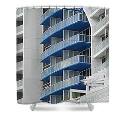 Blue Bayu Shower Curtain by Rob Hans