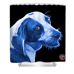 Blue Beagle Dog Art- 6896 - Bb Shower Curtain by James Ahn