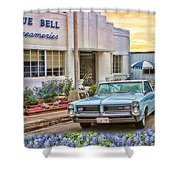 Blue Bell, Bluebonnets, And My Grand Prix Shower Curtain
