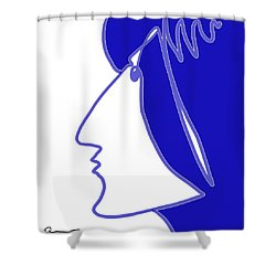 Blue Belle Shower Curtain