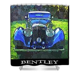 Blue Bentley Pop Title Shower Curtain
