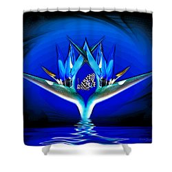 Shower Curtain featuring the photograph Blue Bird Of Paradise by Joyce Dickens