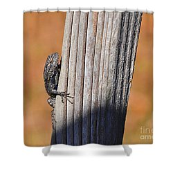 Shower Curtain featuring the photograph Blue Bits by Al Powell Photography USA