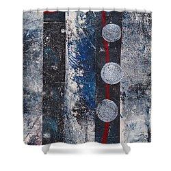 Blue Black Collage Shower Curtain