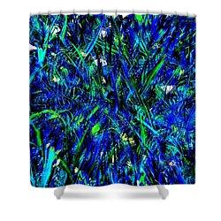 Blue Blades Of Grass Shower Curtain