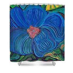 Shower Curtain featuring the painting Blue Blilliance by John Keaton