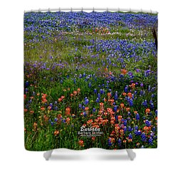 Shower Curtain featuring the photograph Bluebonnets #0487 by Barbara Tristan