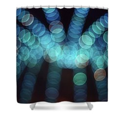 Blue Boogie Shower Curtain by Laurie Stewart
