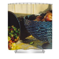Blue Bowl Shower Curtain by Jan Amiss Photography