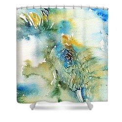 Blue Boy_ Elephant Shower Curtain