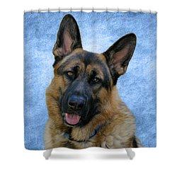 Blue Boy Shower Curtain by Sandy Keeton