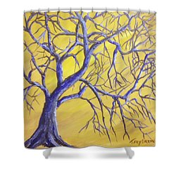 Branches Of Blue Shower Curtain