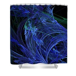 Blue Breeze Shower Curtain by Andee Design