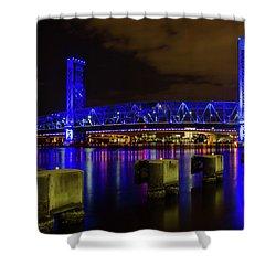 Blue Bridge 1 Shower Curtain