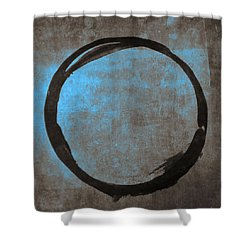 Blue Brown Enso Shower Curtain