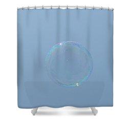 Blue Bubble Shower Curtain