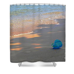 Shower Curtain featuring the photograph Blue Bucket by Jeanette French