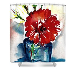 Blue Bud Vase Shower Curtain