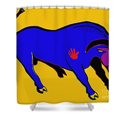 Blue Bull Shower Curtain