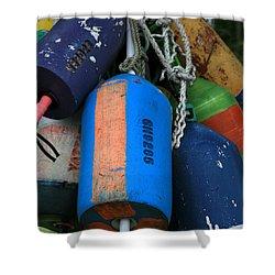 Blue Buoys Shower Curtain