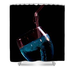 Blue But Shower Curtain by Jez C Self