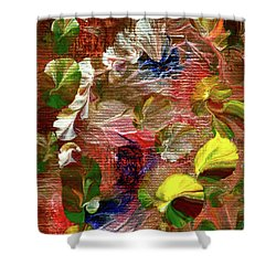 Blue Butterfly Jungle Shower Curtain
