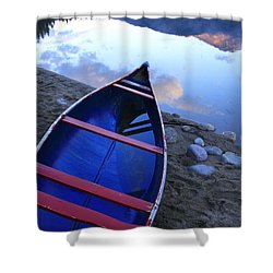 Blue Canoe Shower Curtain