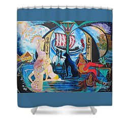 Five Celestial Celebrations                                        Blaa Kattproduksjoner  -  Shower Curtain