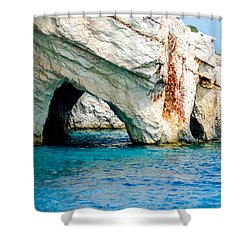 Blue Cave 4 Shower Curtain