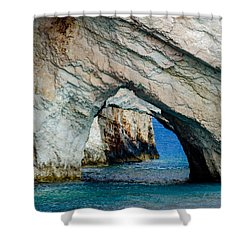 Blue Caves 1 Shower Curtain