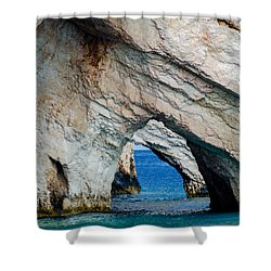 Blue Caves 2 Shower Curtain
