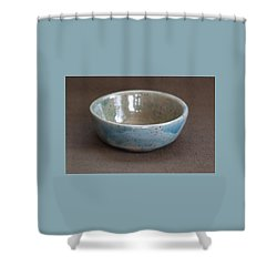 Blue Ceramic Drippy Bowl Shower Curtain by Suzanne Gaff