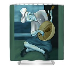 Blue Chef Shower Curtain