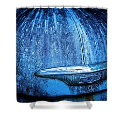 Blue Chevy Shower Curtain
