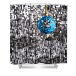 Shower Curtain featuring the photograph Blue Christmas by Ulrich Schade