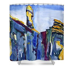 Blue Cliffs, Sea And Sky Shower Curtain