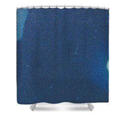 Blue Cloudy Moon Shower Curtain