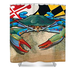 Blue Crab Of Maryland Shower Curtain