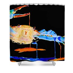 Blue Crab Two Shower Curtain